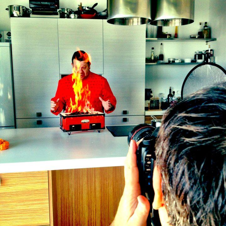 dansanphoto retrata a Chicote para la portada de su libro de recetas