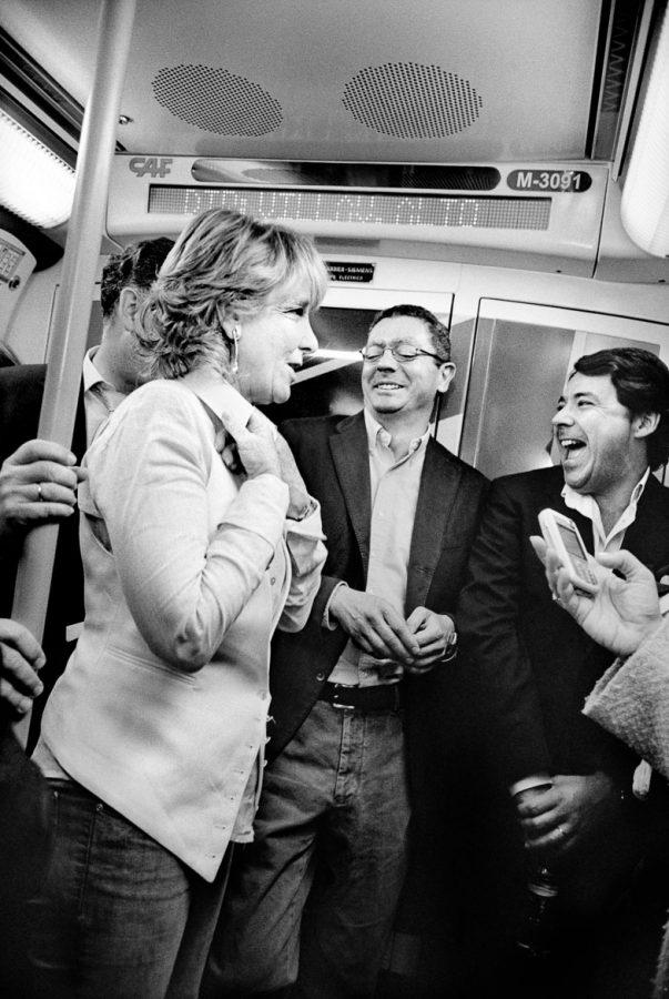 Esperanza Aguirre Presidenta de la Comunidad de Madrid y Presidenta del Partido Popular de Madrid PP